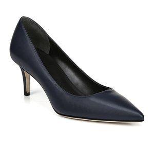 "Via Spiga NEW navy blue pump ""Gya"" heel 9 leather"
